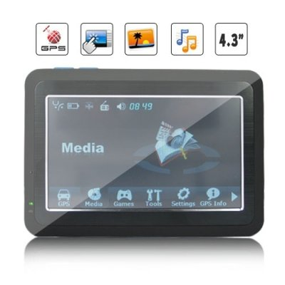 YF Processor 4.3 Inch HD Touchscreen GPS Navigation and Multimedia Unit